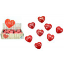 LOVE heart stone 8 times assorted - about 4.5x4cm