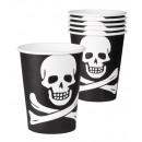 Mug - Pirate 6 piece - approx 25 cl