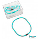 Necklace Silicone  Colour turquoise - circumference