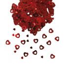 Confetti - Tafel confetti hartjes rood - in de zak