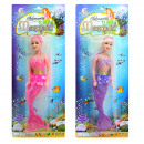 Mermaid 2 times assorted on card - ca 38x15c