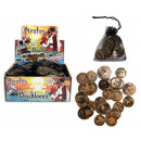 wholesale Toys: Pirate coins 30  pieces in the bag - ca 2,5-3cm