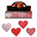 Hand Warmer 4 assorted heart-shaped - 10cm