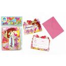 grossiste Cartes de vœux: Invitez princesse  design 12 pièces Beut