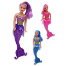 Puppe  Meerjungfrau  3-farbig sortiert ...