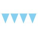 Wimpelkette Baby Blue - ca 10 meter