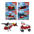 wholesale Blocks & Construction: Blocks  firefighters 4 assorted box ca 9x7x