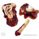 wholesale Joke Articles: Joke - horror body parts 3-fold sort -on card