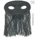 Maske - Augenmaske schwarz mit Fadenvorhang