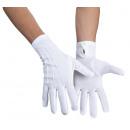 Handschoenen Basic -wit met drukknop