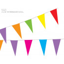 Bunting - paper pennants - colorful ca 10m