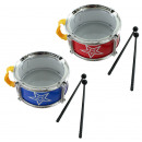 wholesale Music Instruments: Drum 2 times assorted about 15 x 7 cm