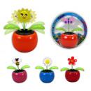 Großhandel Geschenkartikel & Papeterie: Solar Blume wackelnd - ca 11 x 10 cm