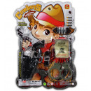 wholesale Toys: Western set on card about 39x27cm