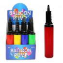 Balloon pump 4x assorted - ca 30cm
