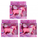 Horse 2 assorted  pink, purple - from box ca 15,5x
