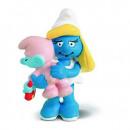 Schleich Smurfette with Baby 20192 - ca 5,5cm