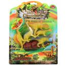 Großhandel Spielwaren: Dinosaurier Set auf Karte ca 28,5 x 21 cm