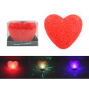Heart lamp with color change about 11.5 cm