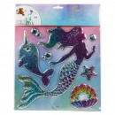 wholesale Wall Tattoos: Mermaid wall sticker on card about 31x25,5cm