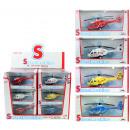 grossiste Jouets: Hélicoptère 4x METAL assorti avec retraite - ca