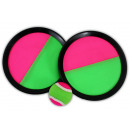 wholesale Balls & Rackets: Velcro ball game  with 2 slices fishing ca 20.5cm