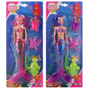 Doll mermaid with light 2 assorted ca