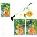 Golf set with 3  balls 3-fold assorted ca 59 cm