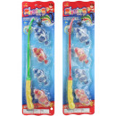 Fishing game 2-fold assorted with 4 fish card appr