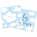 wholesale Baby Toys: Napkin Baby Shower light blue about 25x25 cm / 20