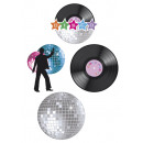 Decoration - Disco 4 pcs - in the bag about 40x31c