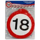 Wimpelkette znak  drogowy papieru '18' - ok