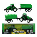wholesale Models & Vehicles: Tractor with  Trailer 2 assorted ca 28 cm