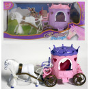 Princess carriage  with horse in a box ca 32x15,5