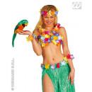 Großhandel Puppen & Plüsch: Papagei aus Federn - grün ca 40cm