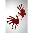 wholesale Wall Tattoos: Handprints Bloody Sticky 2 pieces - each 24x15cm a