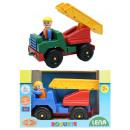 LENA Rugged Fire trucks 2-fold assorted -