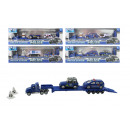 Police Truck METAL 4- assorted box ca 31x