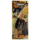 Cowboyset mit Gewehr und Pistole auf Karte ca 64x