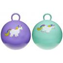 Großhandel Puppen & Plüsch: Hüpfball Einhorn 2 Farben sortiert ca 45 cm
