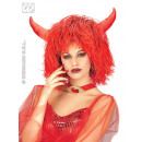 wholesale Toys: Wig - Inferno red with horns