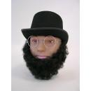 Lincoln beard, black