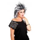 Parrucca - Kelly Rocker Hairstyle nero / grigio