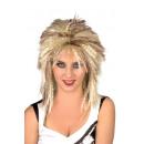 Parrucca - pettinatura rocker anni '80 gialla