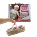 Baby doll with carry bag in box approx 38x32x10cm