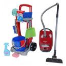 Carrello di pulizia con aspirapolvere per bambini