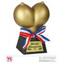 Breast Trophy gold - ca 12,5x9x6cm