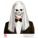 Großhandel Puppen & Plüsch: Maske Totenkopfmaske mit Haaren