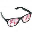 Glasses with blood (imitation) - wide ca 14.5cm
