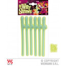 Drinking straw, Willy, set of 6 - about 19cm